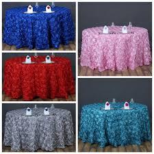 Designer Wedding Linens 120 Round Satin Ribbon Rosette Tablecloth Designer Wedding