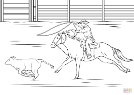 Small Picture Bull Riding Rodeo Coloring Page Within Coloring Pages esonme