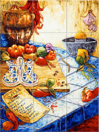 Mural Tiles For Kitchen Decor Mexican Tile Murals Mexican Tiles Kitchen backsplash Ceramic 65