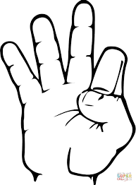 Small Picture ASL Number 9 coloring page Free Printable Coloring Pages