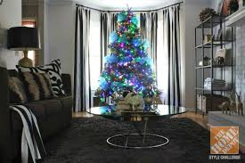 christmas tree lighting ideas. Christmas Tree Decorating Ideas: Blue And Gold Decorated With Colored Lights Lighting Ideas