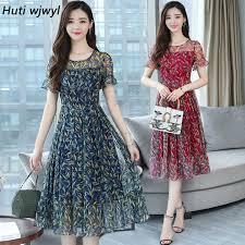 <b>HUTI</b> WJWYL 3XL Plus size <b>Summer</b> Floral Lace Midi Dress Boho ...