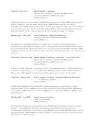Mental Health Worker Resume Medical Mental Health Case Worker Resume
