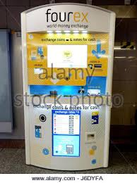 Currency Exchange Vending Machine Interesting ATM And Currency Exchange Machine In Beijing China Stock Photo