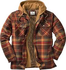 Mens Maplewood Hooded Flannel Shirt Jacket