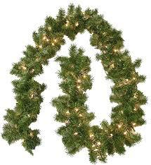 Home Depot Lighted Garland Lighted Christmas Garland