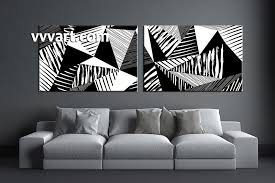piece canvas abstract black and cute black and white canvas wall art