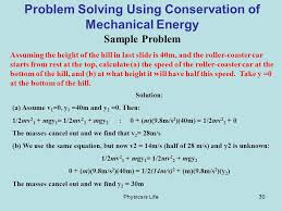 physics is life30 problem solving using conservation of mechanical energy sample problem assuming the height of