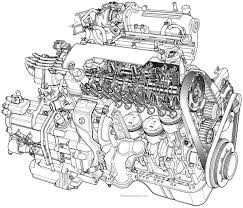 Car engine sketch