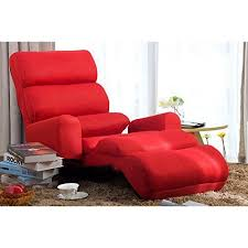 pillow chair. merax foldable floor cushion lounge chair/bed with pillow, red pillow chair
