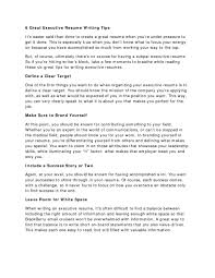 Writing A Good Resume How To Write Good Resume Summary Make For Freshersr Cover Letter 85
