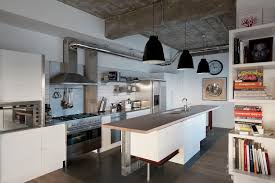 Industrial Kitchen Island Small Industrial Kitchen With Iron Island Also Metal Stools And