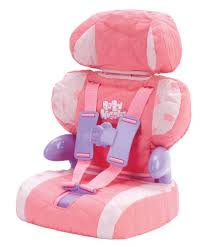 Doll Car Seat and Booster with Seatbelt for Dolls and Stuffed ...