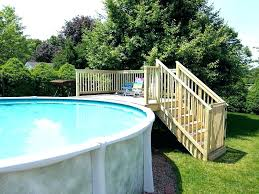 small underground pools above ground pool ladder wood ladders with deck