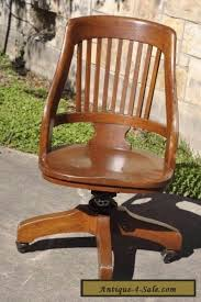 vintage office chairs for sale. Vintage Milwaukee Chair Co Antique Oak Wood Swivel Desk Office Lawyer For Sale Chairs H