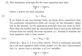 the maximum principle for the heat equation says t