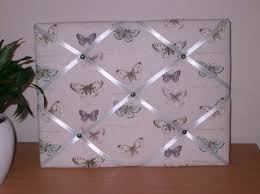 Butterfly Memo Board Custom Butterflies French Memo Board Blue And Purple Butterflies Cream