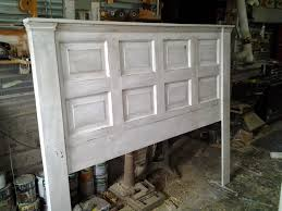 i made this headboard from an old door this is for a king bed i make them in other sizes ie queen double etc