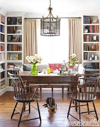 dining room to office. Floor-to-ceiling Bookcases Give Depth To The Dining Room \u2014 Office-library Office