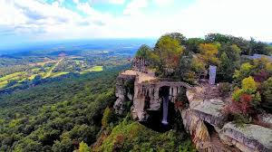 lookout mountain s rock city georgia and ruby falls an aerial perspective you