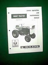 bolens outdoor power equipment manuals guides bolens husky 850 tractor model 191 02 owner maintenance manual 10 66