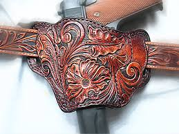 custom made tooled leather pancake 1911 holster left hand