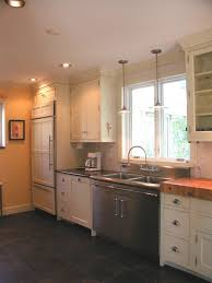 Recessed Lighting In Kitchens Lighting Over Kitchen Sink With Pendant Lamp Or Recessed Lighting