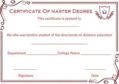 degree certificate templates 13 best masters degree certificate template images degree