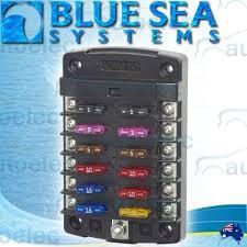 blue sea 5034 fuse block box holder marine boat battery 12 volt blue sea 5034 fuse block box holder marine boat battery 12 volt 12v 12 way new
