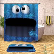 Cool shower curtains for kids Amazon Com Cookie Monster Shower Curtain Kids Shower Curtains Shower Curtains Shower Curtains Cookie Monster Shower Of Curtains