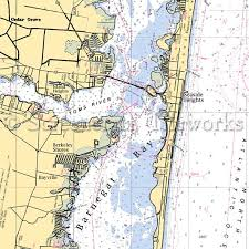 New Jersey Island Heights Nautical Chart Decor