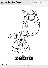 Feel free to print and color from the best 37+ zebra coloring pages at getcolorings.com. Zebra Coloring Page Super Simple