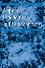 applied biochemistry and biotechnology incl option to publish  applied biochemistry and biotechnology
