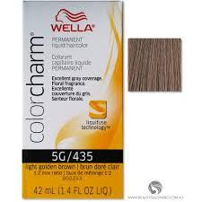 Wella Light Golden Brown Hair Color Wella Color Charm Permanent Liquid Hair Color 5g 435 Light Golden Brown
