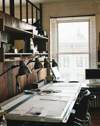 Trendy office Interior Design Roman Williams Office The Interior Design Firm Behind The Ace Hotel The Standard Have The Best Office Themselves Id Expect Nothing Design Pinterest 25 Best Trendy Offices Images Desk Design Offices Office Home