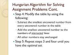 the transportation and assignment problems ppt video online hungarian algorithm for solving assignment problems cont