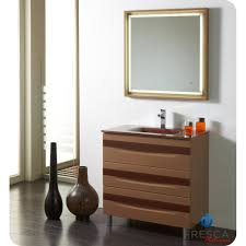32 Bathroom Vanity Giocco 32 Inch Modern Bathroom Vanity Cappuccino And Chocolate Finish
