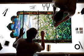 restoring a tiffany stained glass window