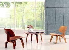 mid century eames lcw dcw plywood ash walnut veneer molded lounge