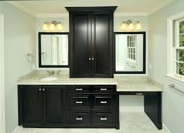 fresh bathroom vanity with makeup counter charming area station double