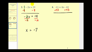 solving two step equations the basics