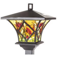 garden lamps.  Garden Set Of 2 Tiffany Style Solar Garden Lamps On A