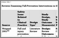 Fall And Injury Prevention Patient Safety And Quality