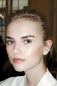 a dewy plexion and a hint of a pink blusher we love this makeup look