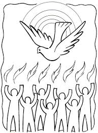 Tongues Of Fire Coloring Pages Holy