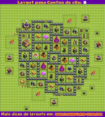 Layouts Para Clash Of Clans Centro De Vila 8 Atualiza O 4