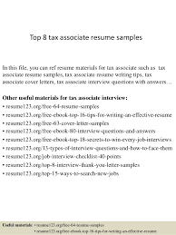 top 8 tax associate resume samples in this file you can ref resume materials for tax resume sample