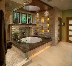 Example of a large zen master limestone tile marble floor corner shower  design in San Diego