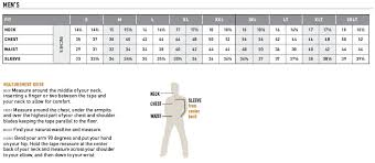 Ariat Mens Apparel Shirt And Outerwear Size Chart Western