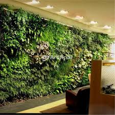 indoor artificial plants wall for showcase decorations